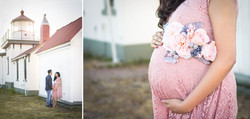 Travel-themed maternity session