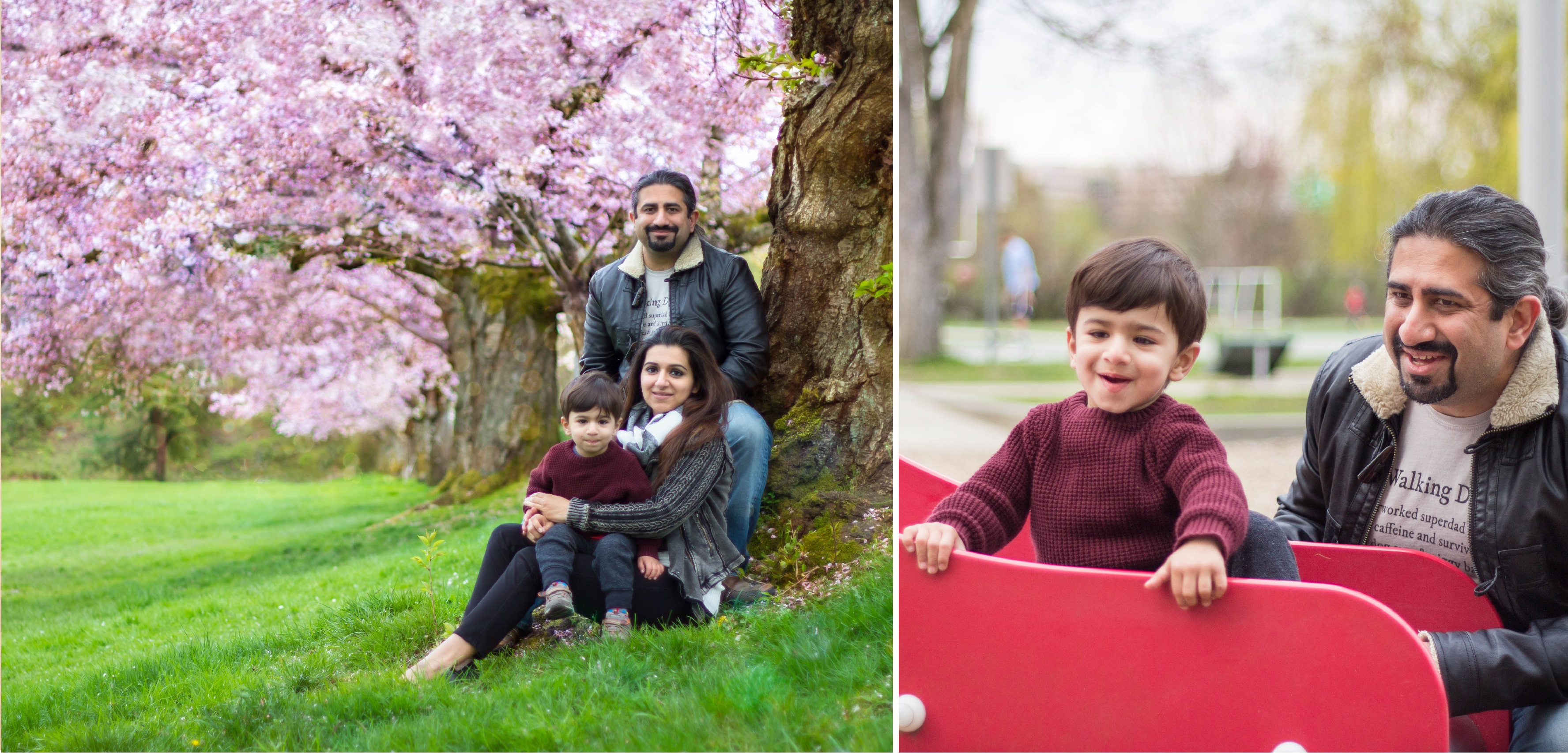 Spring-time family photography