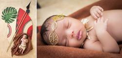 Africa themed newborn session | Zulu