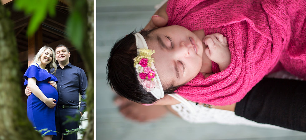 Maternity & Newborn | a gorgeous, expecting couple and an adorable baby girl