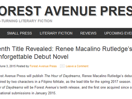Forest Avenue Press announces The Hour of Daydreams