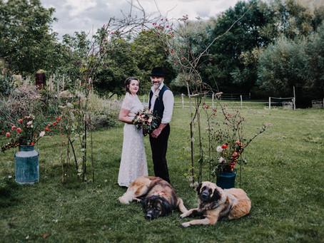 Nachhaltig heiraten & Green Wedding & Landhochzeit Inspiration in schönen Herbstfarben