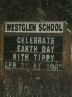 Tippy at Westglen School