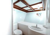 Twin cabin bathroom