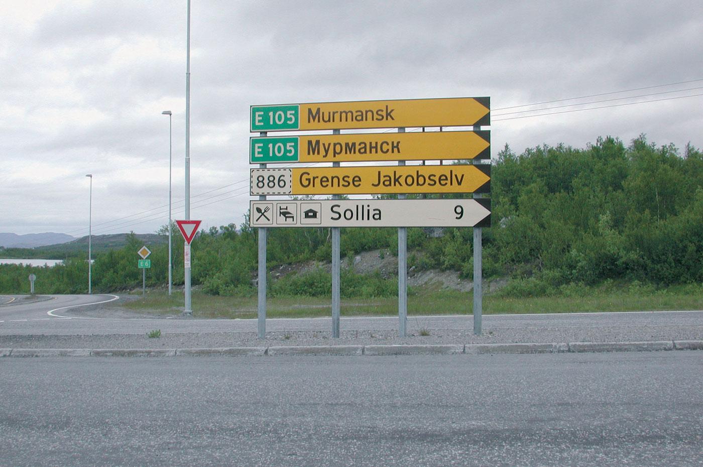 Kort vei til Russland