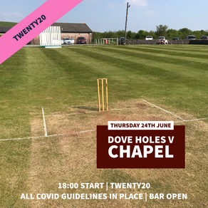 Cricket this week…