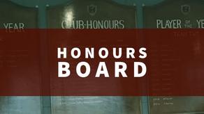 Honours Board | Dan Gilbride 118 & James Gemmell 107