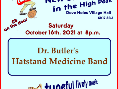 Next Up | Dr Butler's Hatstand Medicine Band | Saturday 16th October