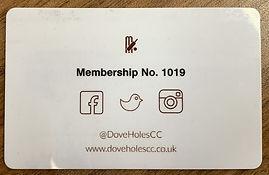 Membership Card Back
