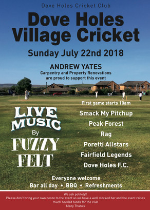 Dove Holes Village Cricket T20 Tournament Draw & Rules