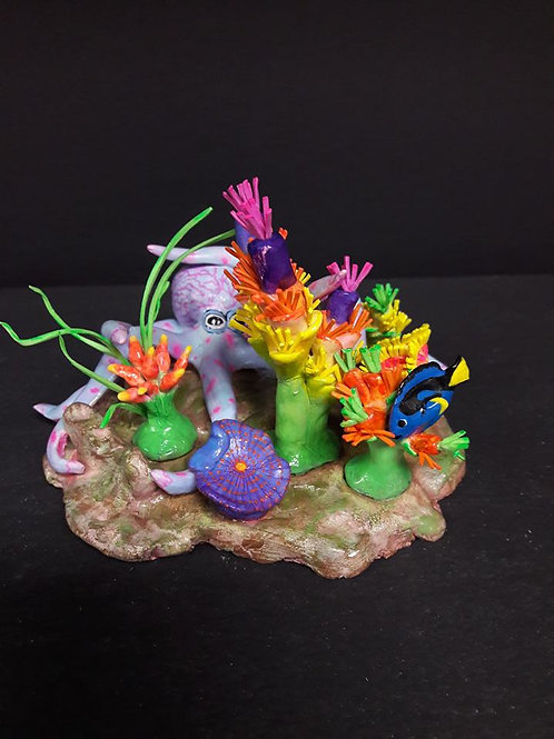 Octopus Figurine with Aquascape