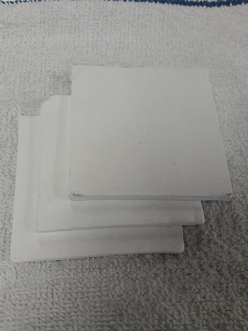 """Square Coral Tile 3"""" white"""