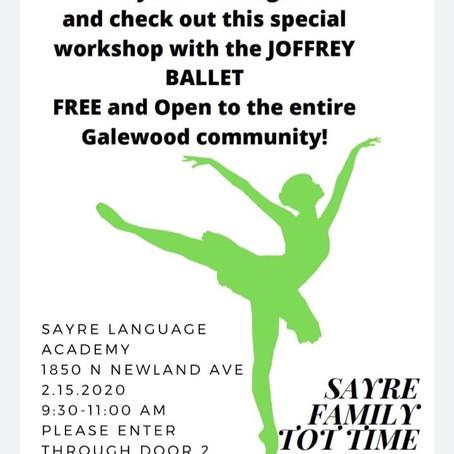 Sayre Family Tot Time Saturday 2/15