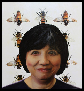 Honey Bee: the title of my latest painting and a term of endearment