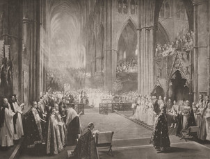 The Jubilee Celebration in Westminster Abbey - June 21st 1887 Commemorative of the Fiftieth Year of