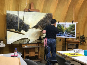 Understanding the Details of a Large Landscape Painting