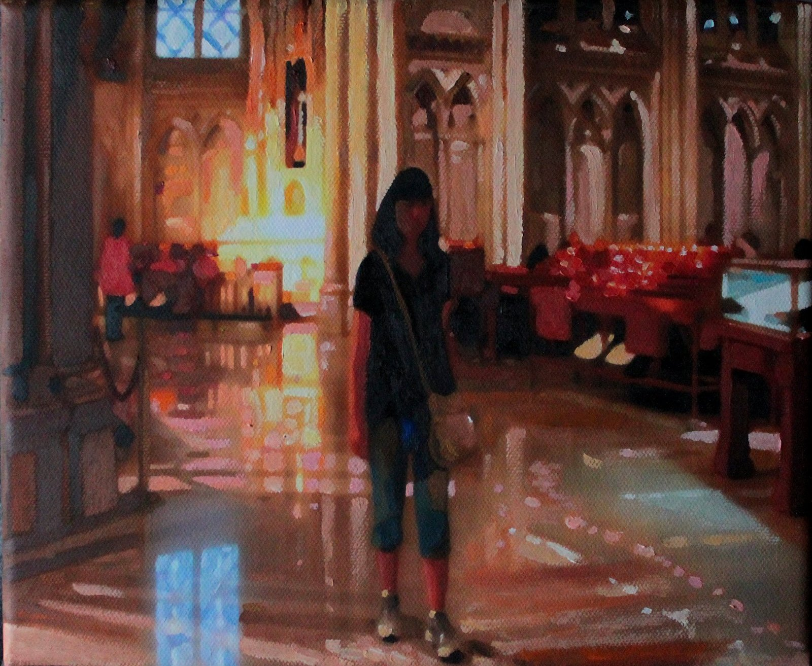 Kathy in The Cathedral of St. Patric