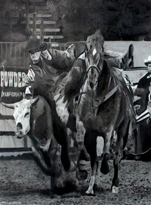 Rodeo: New Ink Sketch By Eric Buechel