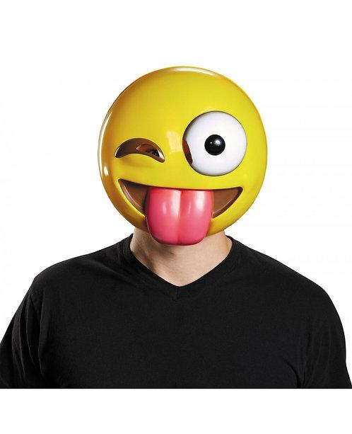 Tongue-Out Emoji Mask