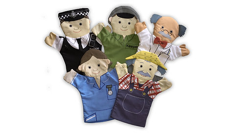 Flat Glove Puppets - People Who Help Us