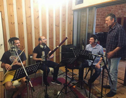 Recording with Yoni Rechter, May 2018