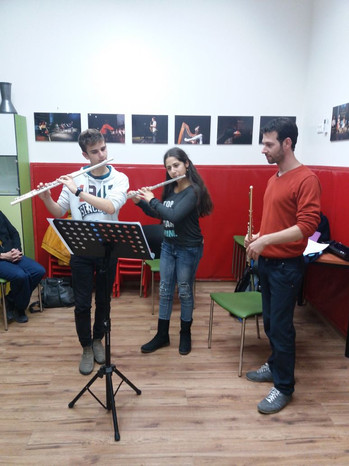 Masterclass for young musicians at the Gonenim Music Center, Jerusalem - January 2018