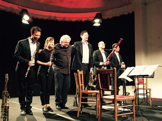 With composer Stephen Horenstein in Festival de Chaillol, France - August 2018