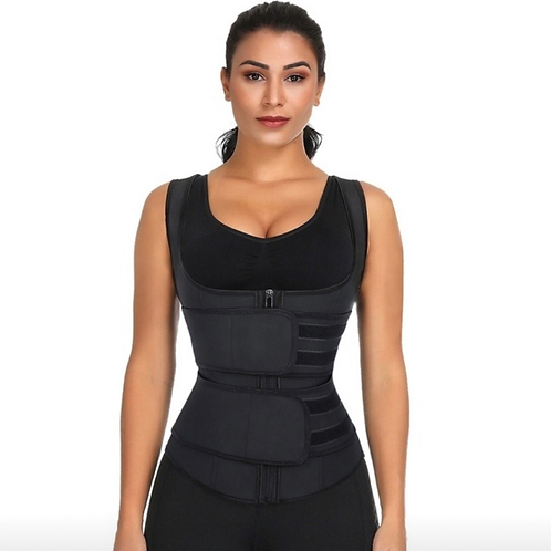 iBs Double Velcro Strap Waist Trainer Vest