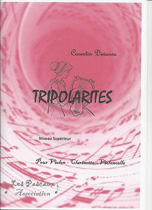 TRIPOLARITES pour Violon,Clarinette Sib et Violoncelle