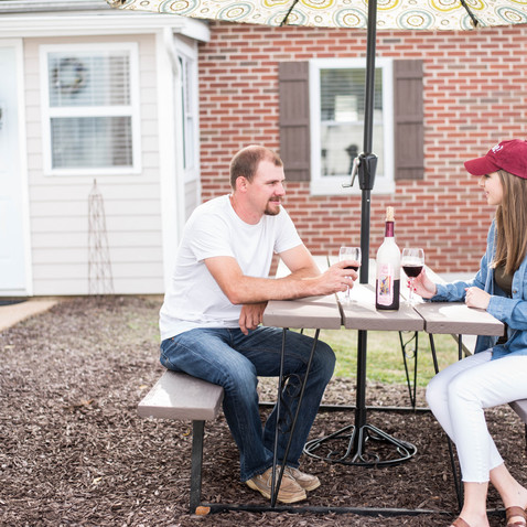 Backyard Picnic Table & Umbrella!