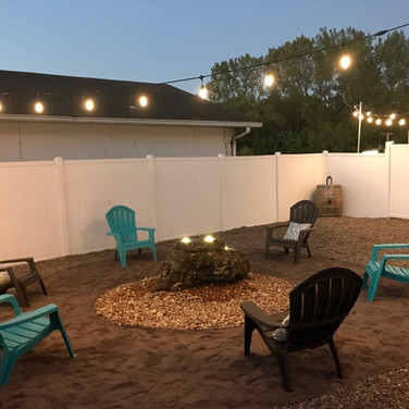 Backyard -- Lights are on a Timer for You!