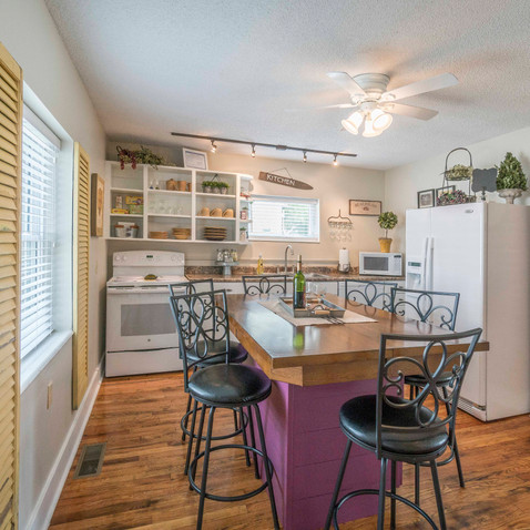 Kitchen Island Perfect for Visiting or Playing One of Our Board Games!