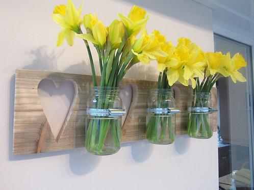 Hearts Glass Vase Display