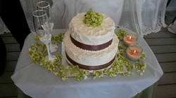 Simple Wedding with swirls & ribbon