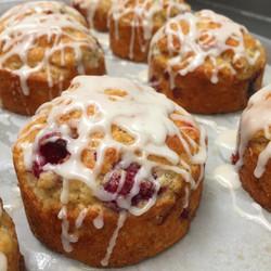 Vanilla Glazed Raspberry Muffins