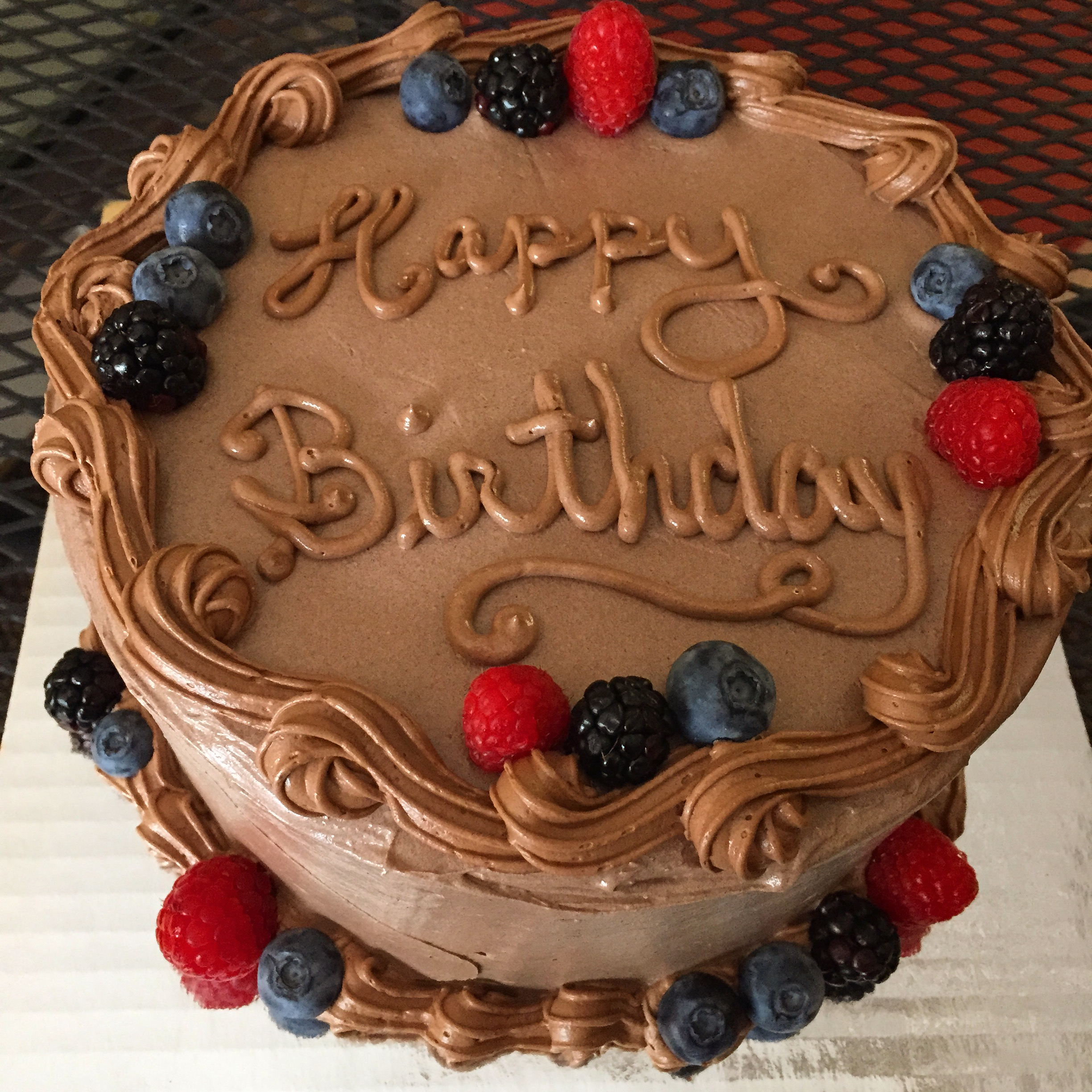 Birthday Cake with Berries