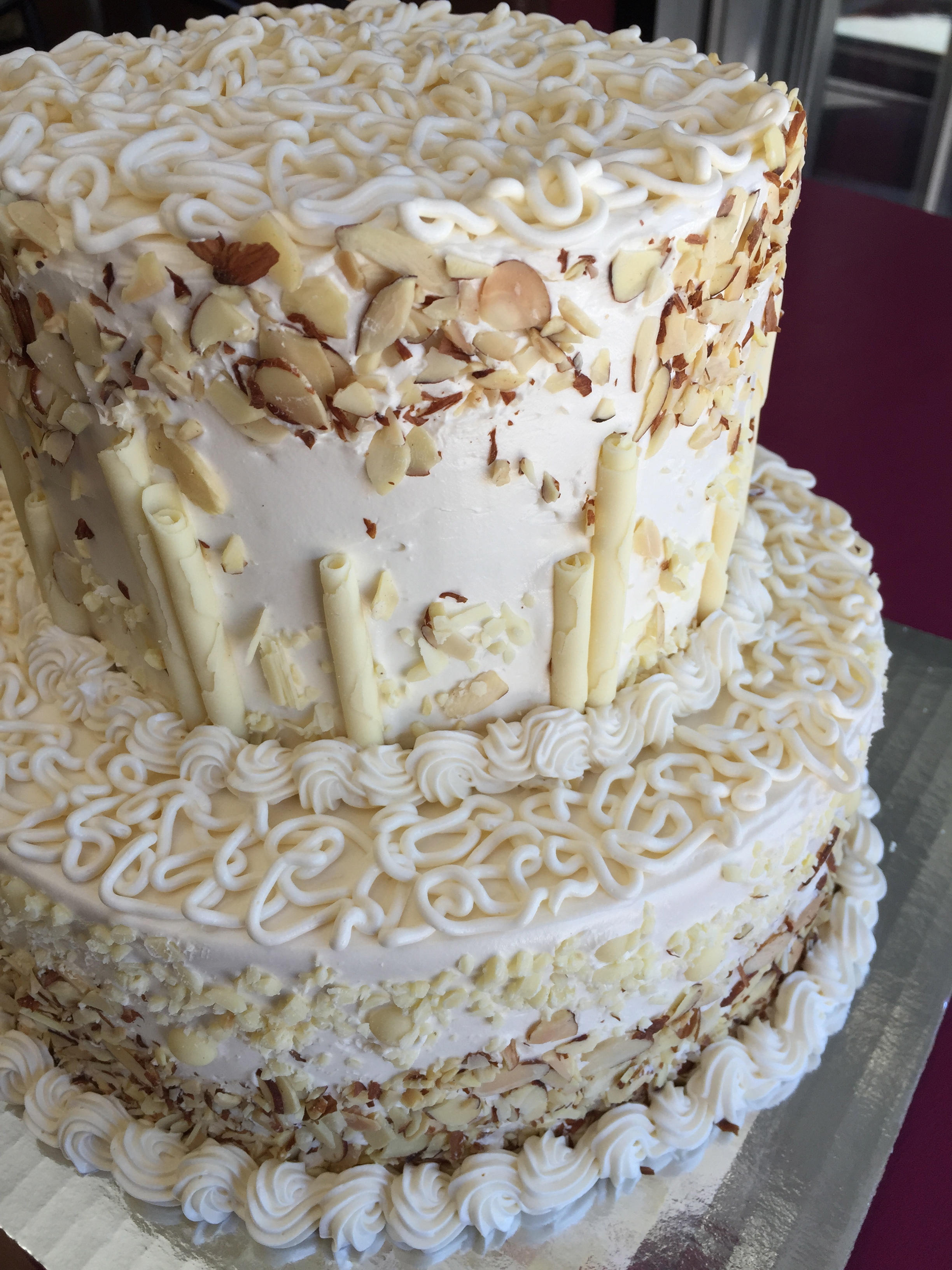 Almond White Chocolate Wedding Cake