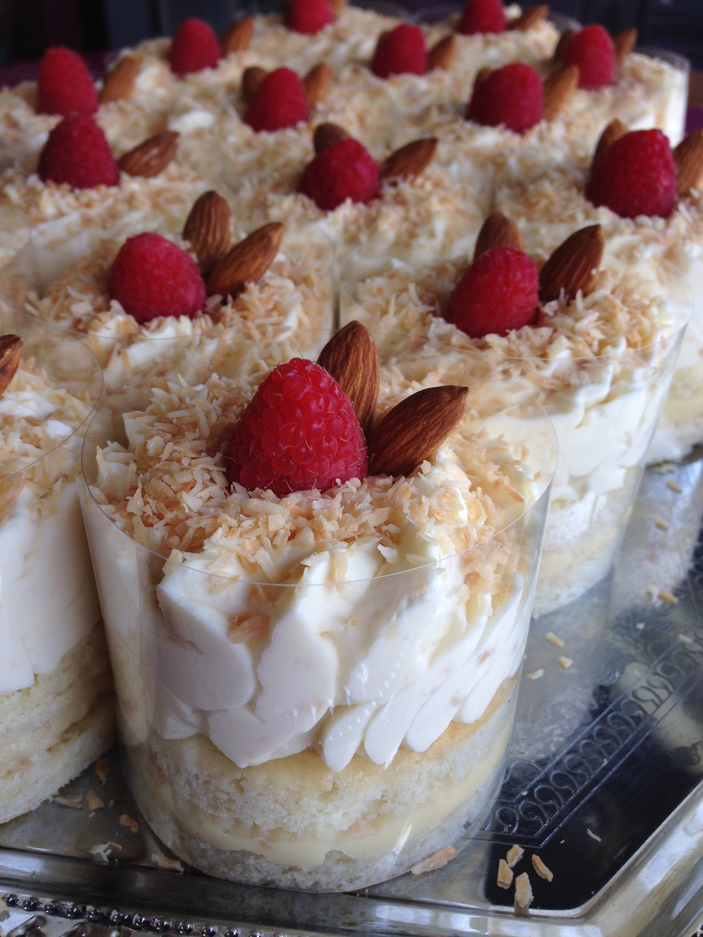 Almond Coconut Mousse Cakes