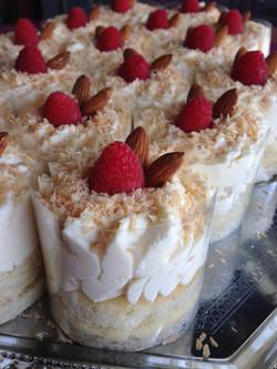 Almond Coconut Mousse Cakes
