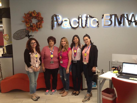 Breast Cancer Awareness Month at Pacific BMW