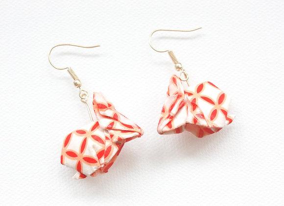 White Origami Rabbit Earrings