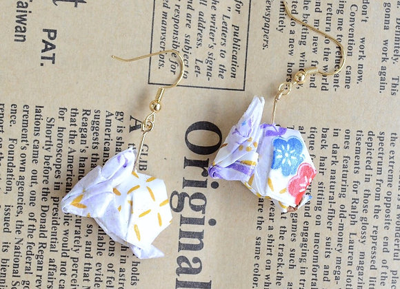Light Purple Origami Rabbit Earrings
