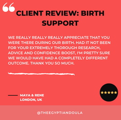 CLIENT REVIEW - BIRTH SUPPORT - MAYA & R