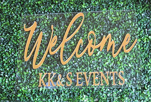 "20"" Floating Acrylic Welcome Signage"