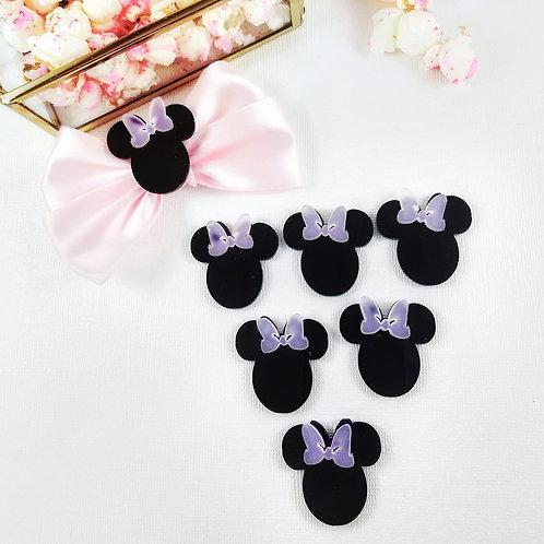 1' Minnie Mouse Head Bow Jewel