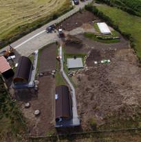 NC500 Glampod site Brora Progress shot.J