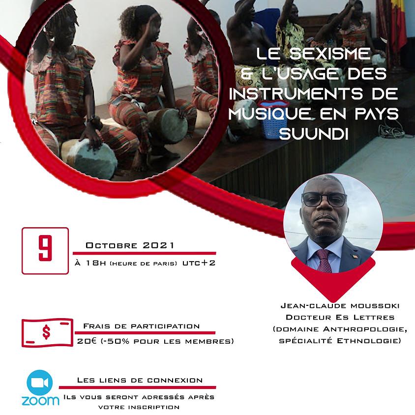 Le sexisme et l'usage des intruments de musique en pays Suundi