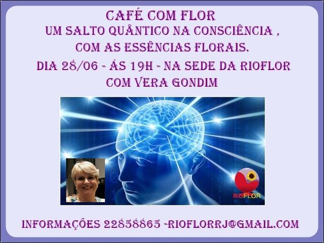Nosso Café com Flor desse mês é com Vera Gondim. Imperdível!
