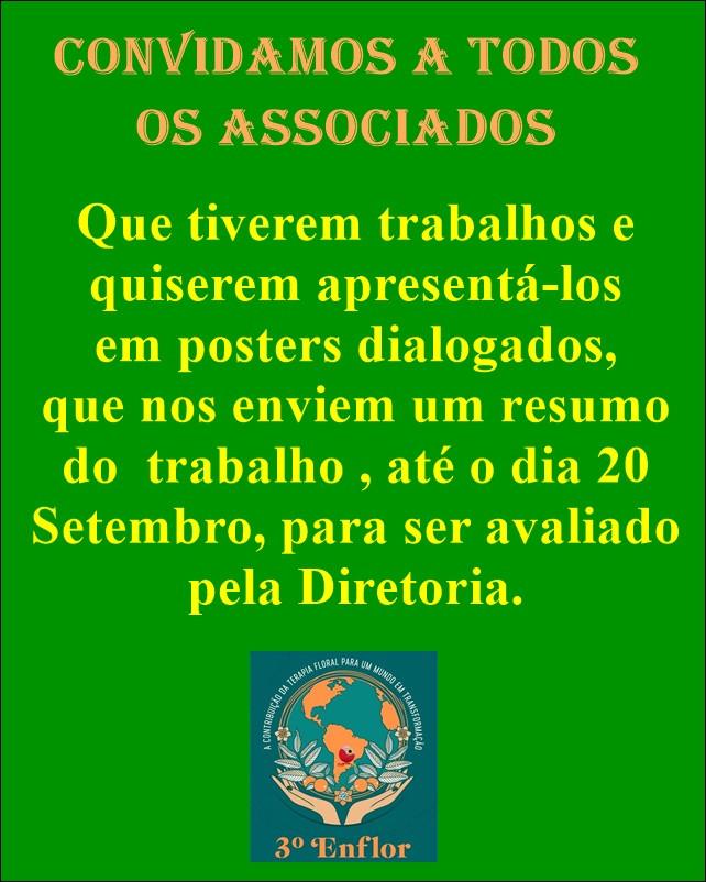 Apresentação de Trabalhos em posters dialogados no 3 Enflor.