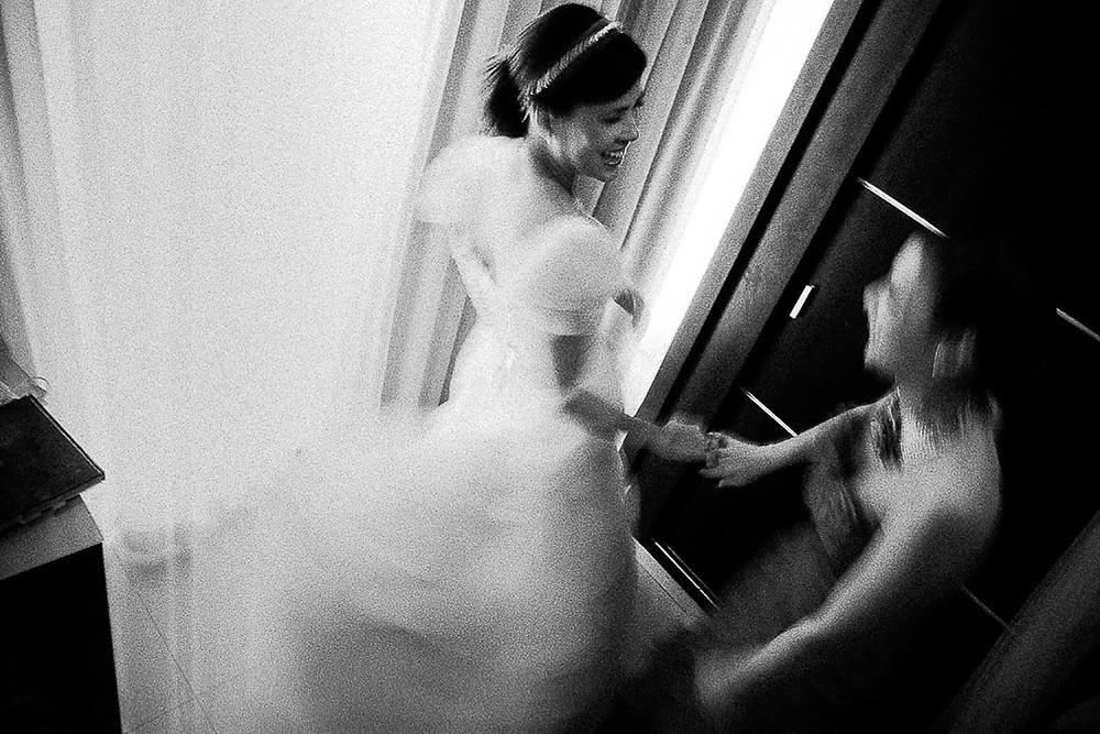 fotografia de vestido y Preparativos de novia en malaga